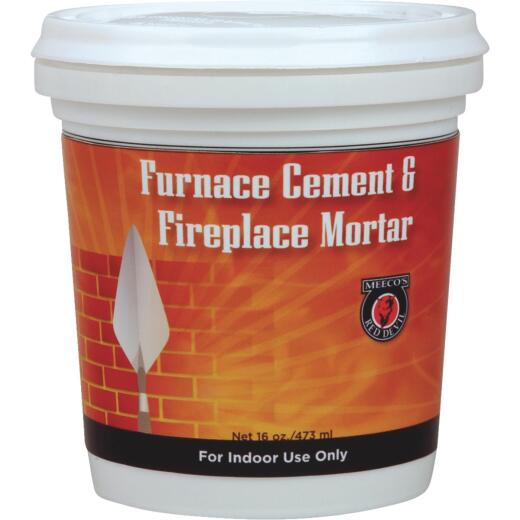 Meeco's Red Devil 1/2 Pt. Gray Furnace Cement & Fireplace Mortar