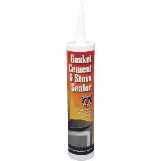 Meeco's Red Devil 10.3 Oz. Black Gasket Cement and Stove Sealer
