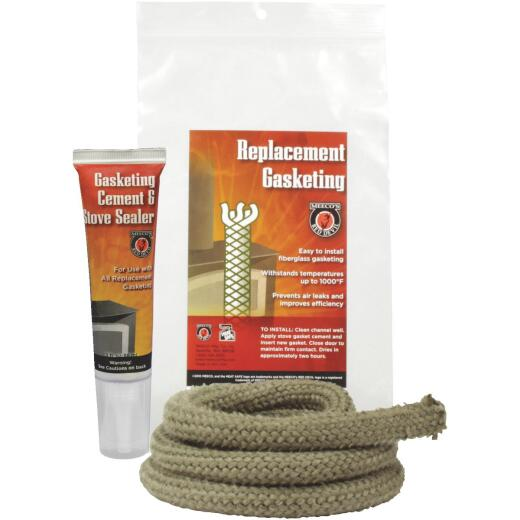 Meeco's Red Devil Gasketing Cement/Stove Sealer and 5/8 In. x 6 Ft. Replacement Rope Gasket Kit
